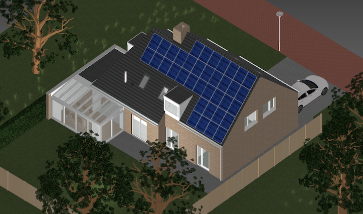 Planned solar panel layout