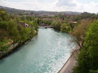 Beautiful view of the river in Bern