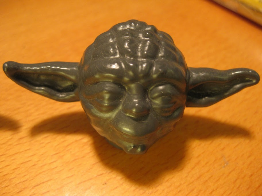 Yoda, after using scrub lotion!